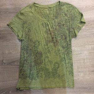 Sonoma Short Sleeve Top. Green In Color.